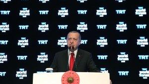 Cumhurbaşkanı Erdoğan'dan harekatı gerekçe göstererek foruma katılmayanlara sert tepki