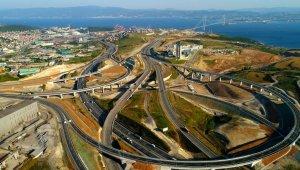 Kuzey Marmara Otoyolu'nun yapım aşamaları böyle görüntülendi