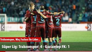 Trabzonspor: 4 - Gaziantep FK: 1