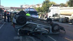 Yeşil ışığı kaçırmamak için gaza yüklenen sürücü kazaya neden oldu: 6 yaralı