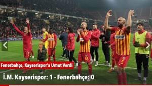Fenerbahçe, Kayserispor'a #Umut Verdi