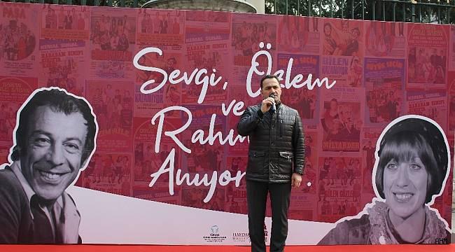 Münir Özkul ve Ayşen Gruda Beyoğlu'nda anıldı