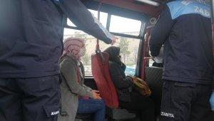 Esenyurt'ta fazla yolcu alan minibüsçüden ilginç tepki