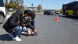 Avcılar'da polisler yolları drone ile denetledi!
