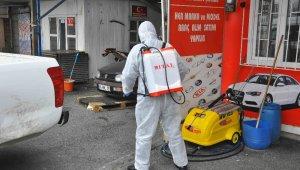 Eyüpsultan'ın cadde ve sokakları dezenfekte ediliyor