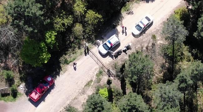 Ormanlık alandaki şüpheli şahsa droneli operasyon - ASAYİŞ ...