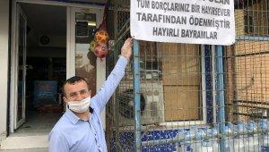 Esenyurt'ta önce veresiye borçları ödediler sonra pankart astılar!