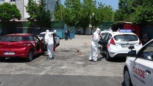 Çekmeköy'de sürücü kursu araçları dezenfekte edildi