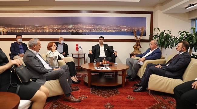 CHP İlçe Başkanlığı'ndan Başkan Yüksel'e ziyaret