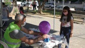 Kartal'da çocuklar sürpriz etkinliklerle eğlendi