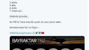 Türkiye'nin ilk yerli ve milli SİHA'sı Bayraktar 200 bin saat ile Türkiye rekoru kırdı