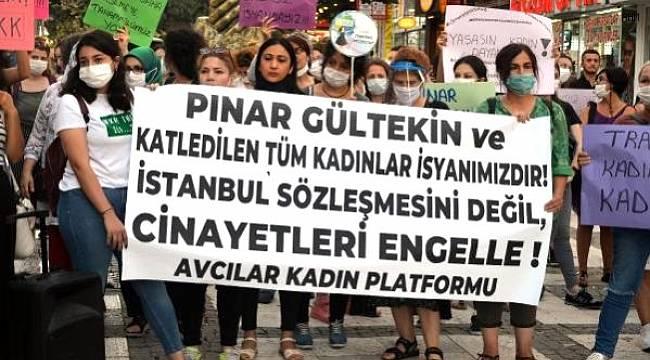 Avcılar'da Pınar Gültekin'in vahşice öldürülmesi ve kadın cinayetleri protestosu