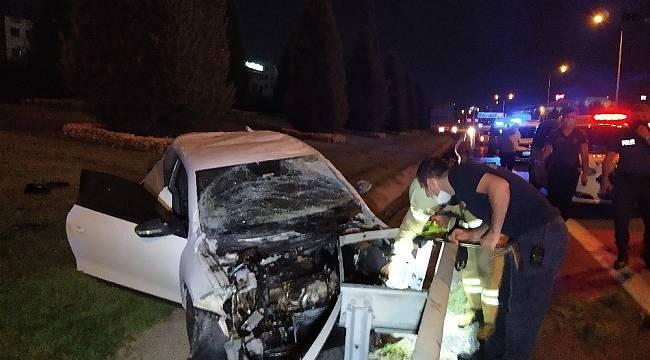 Basın Ekspres'te otomobil takla attı: 2 yaralı
