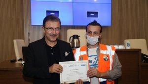 Başkan Köken, ESAY personeline sertifikalarını verdi