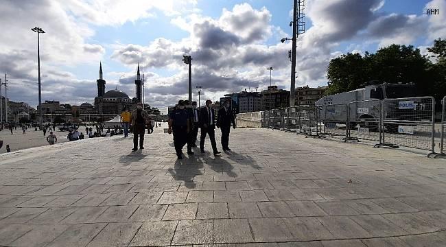 Emniyet Müdürü Zafer Aktaş Taksim'de incelemelerde bulundu