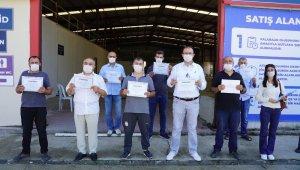 Esenyurt'un yeni kasapları sertifikalarını aldı