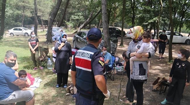 Jandarma ekiplerinden piknik ve mesire alanı denetimi
