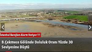 B.Çekmece Gölünde Doluluk Oranı Yüzde 30 Seviyesine Düştü