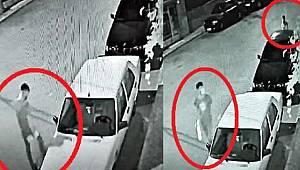 Avcılar'da kamerayı fark eden hırsızlar çaldıkları plakayı...