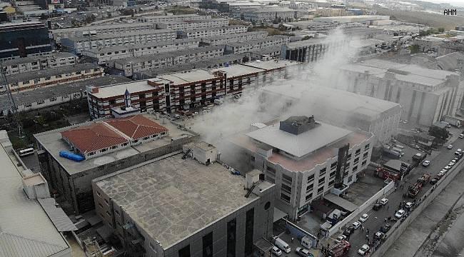 İstanbul'da sanayi sitesinde yangın!