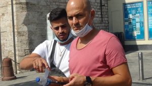 İstiklal Caddesi'nde droneli korona virüs denetimi