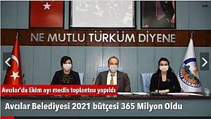 Avcılar Belediyesi 2021 Bütçesi 365 Milyon Oldu