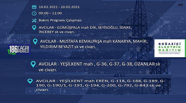 BEDAŞ Avcılar'da Planlı Elektrik Kesintisi Açıkladı