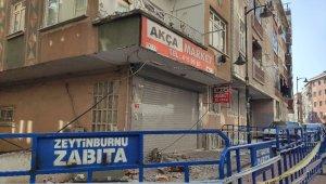 Zeytinburnu'nda binanın balkonu çöktü