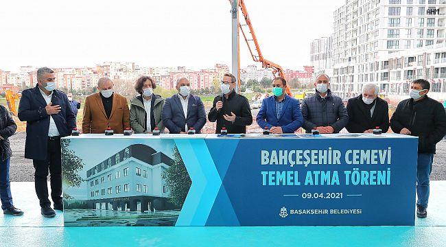 Bahçeşehir'de Canlar Cem Evi'nin temeli atıldı