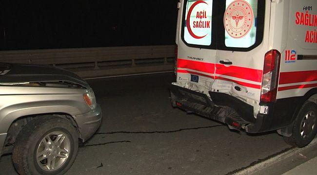 Kaza yapan araca müdahale için giden ambulans kaza yaptı