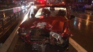 Pendik'te kazaya karışan sürücüden sağlık çalışanlarına 'sabır' testi