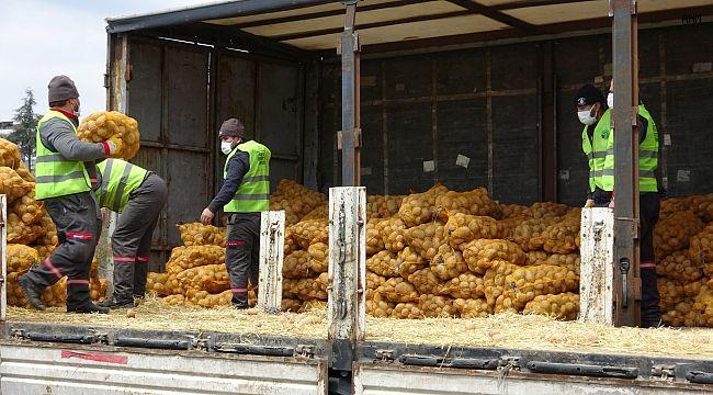 TMO tarafından çiftçiden satın alınan ürünler İstanbul'da dağıtılmaya başlandı