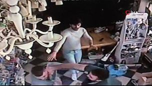 Avcılar'da bir kişi hasmının kafasına televizyon fırlattı