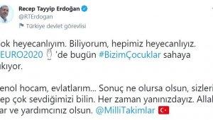 Cumhurbaşkanı Erdoğan'dan Euro 2020 Mesajı!