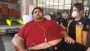 300 kiloluk adamın en büyük hayali eşi ve çocuğuyla dolaşabilmek
