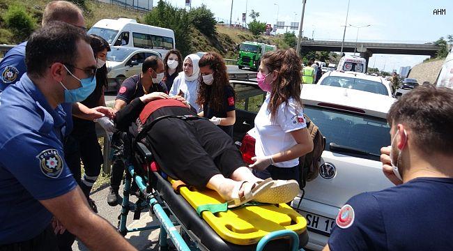 5 araç birbirine girdi, 2 kişi yaralandı