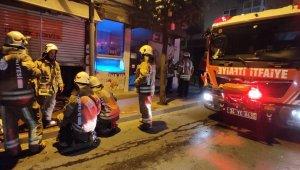 Şişli Feriköy'de elektronik cihaz dükkânında korkutan yangın