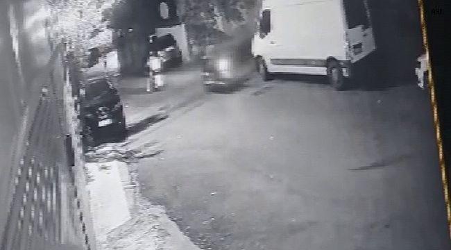 Ataşehir'de dakikalar içerisinde motosiklet hırsızlığı kamerada