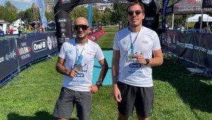 Barkın Kültürsay ve Samet Uysal ilk kıtalararası triatlonda podyuma çıktı