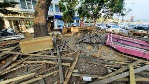 İBB'den şafak vakti İstinye Spor Kulübü tesislerine yıkım