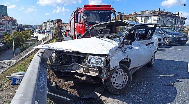 Büyükçekmece'de korkutan kaza: 1 yaralı