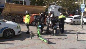 Kadıköy'de elektrikli scooter denetimi gerçekleştirildi