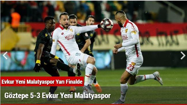Evkur Yeni Malatyaspor Yarı Finalde