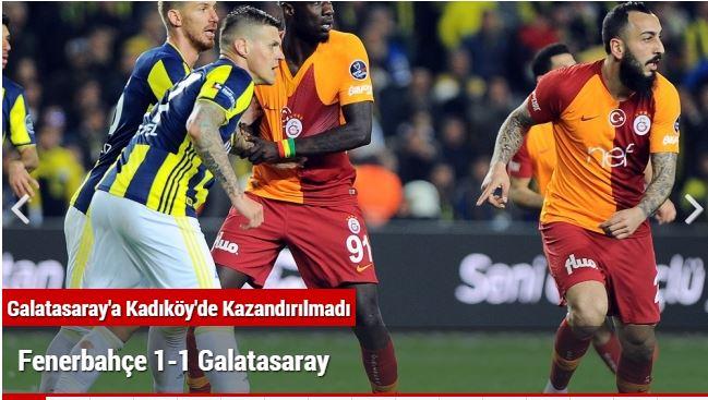 Galatasaray'a Kadıköy'de Kazandırılmadı !!!