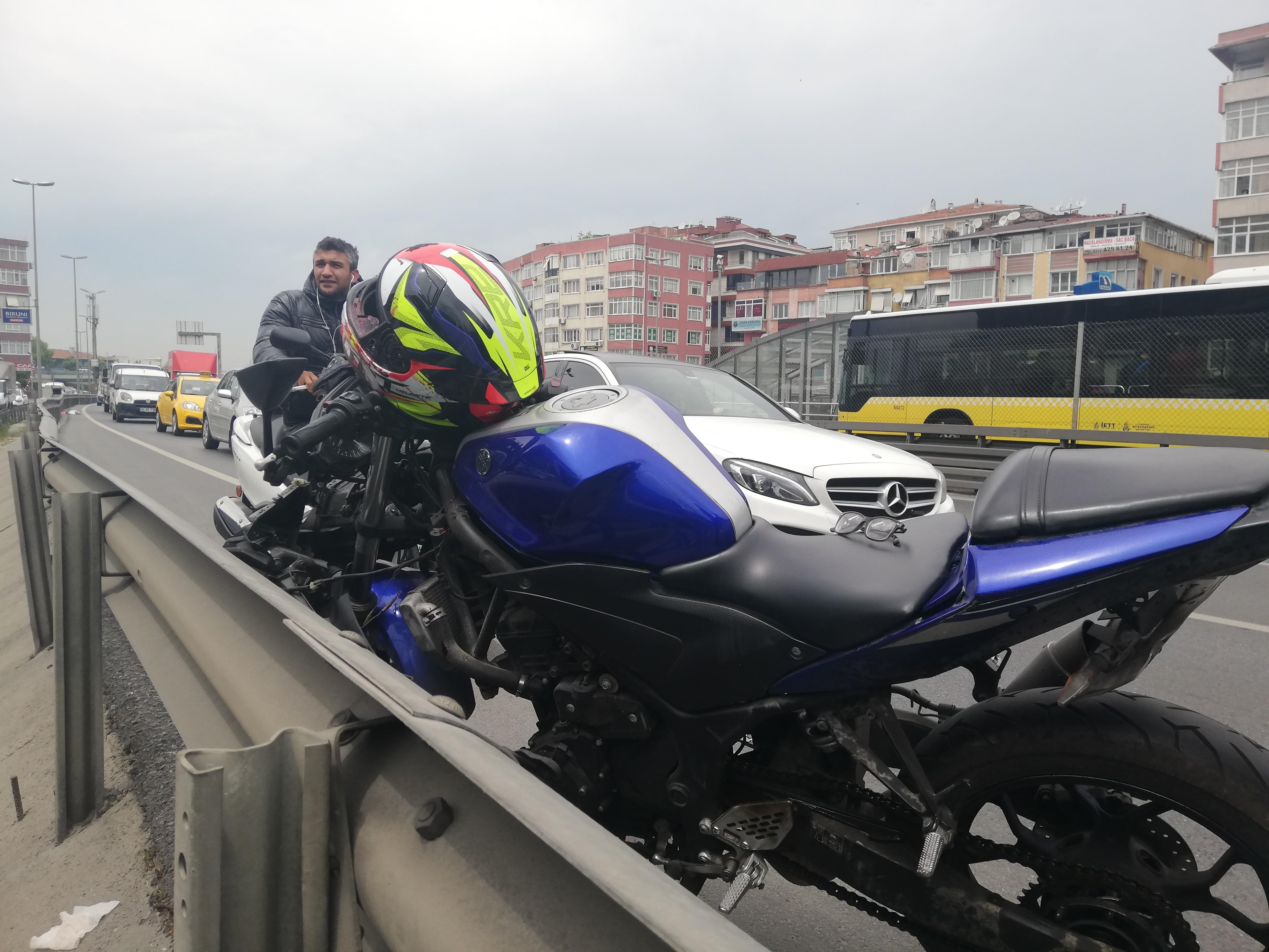 E-5'te Feci Motosiklet Kazası:1 Ölü!