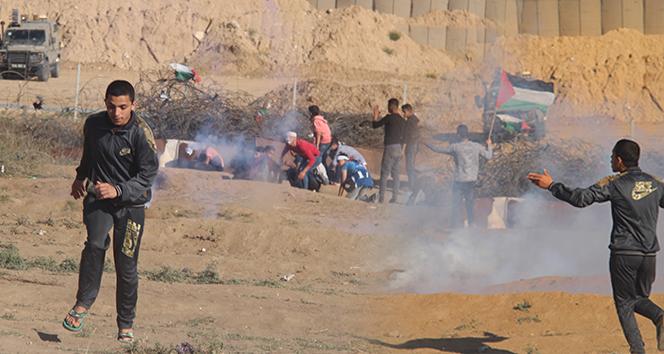 İsrail askerlerinden Filistinlilere sert müdahale: 1 ölü, 30 yaralı