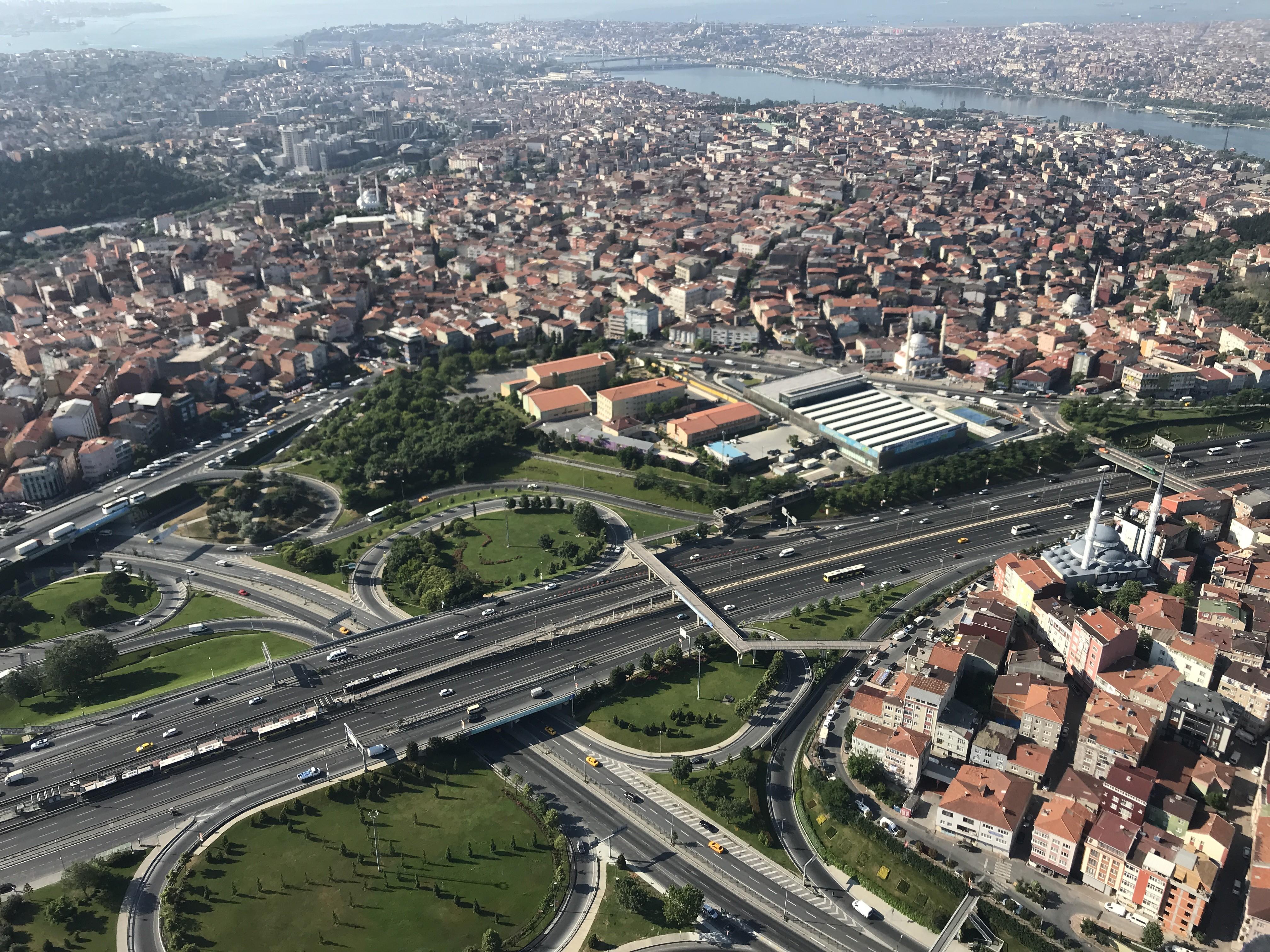 İstanbul'da helikopterle bayram dönüşü denetimi