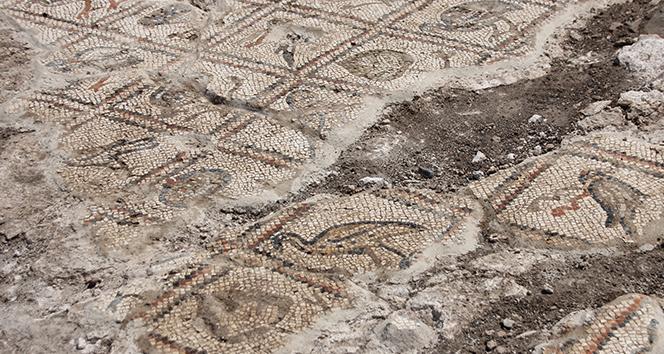 Antakya Hipodromunda mozaik parçası bulundu