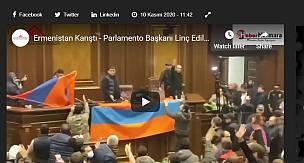 Ermenistan Karıştı - Parlamento Başkanı Linç Edildi !!