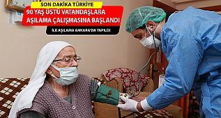 90 Yaş ve Üzeri Vatandaşlara Evlerinde Aşılama !